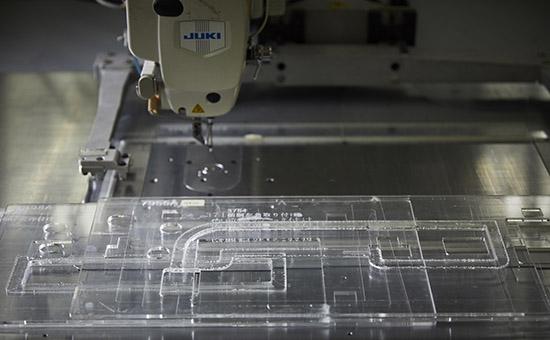アクリル治具 CPミシンでの縫製時に使用