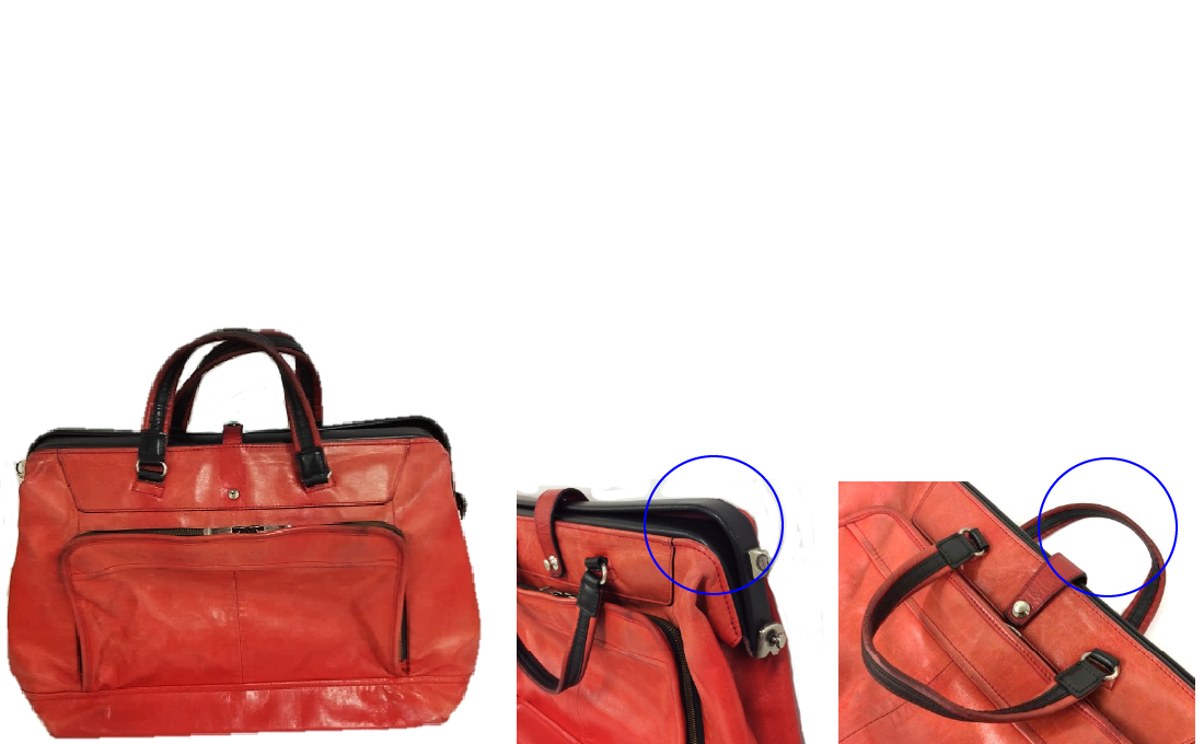 修理の実例 Dカンの劣化・枠の歪みによるハカマ外れ・ 持ち手の劣化 Before